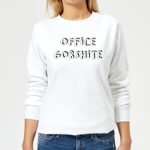 Office Gobshite Women's Sweatshirt - White