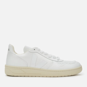 Veja Men's V-10 Leather Trainers - Extra White