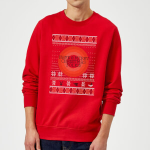 Looney Tunes Knit Christmas Sweatshirt - Red