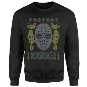 Morsmordre Christmas Sweatshirt - Black