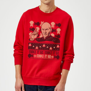 Felpa Star Trek: The Next Generation Make It So Christmas - Rosso