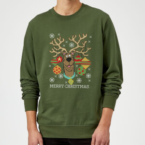 Scooby Doo Christmas Sweater - Forest Green