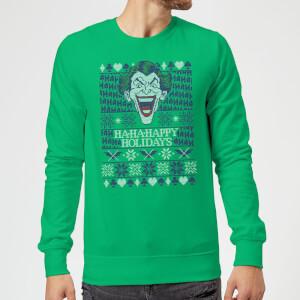 HA-HA-HAppy Ugly Knit Christmas Sweater - Kelly Green