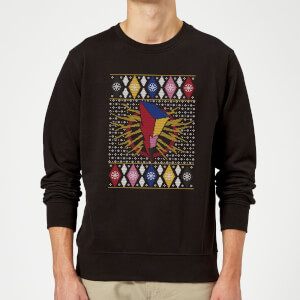 Power Rangers Christmas Sweatshirt - Black