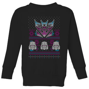 Decepticons Classic Ugly Knit Kids' Sweatshirt - Black