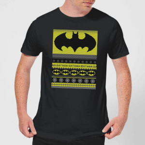 Batman Men's Christmas T-Shirt - Black