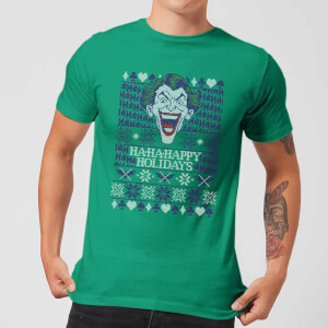 HA-HA-HAppy Ugly Knit Men's Christmas T-Shirt - Kelly Green