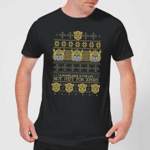 T-Shirt Bumblebee Classic Ugly Knit Christmas - Nero - Uomo