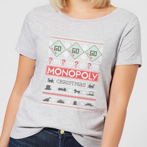 Monopoly Women's Christmas T-Shirt - Grey