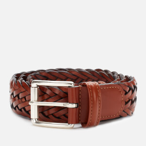 Anderson's Men's Woven Leather Belt - Brown