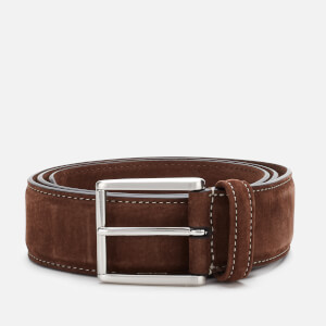 Anderson's Men's Matt Silver Suede Belt - Brown