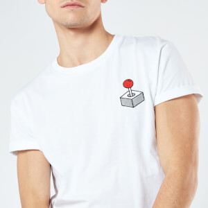 Joystick Unisex Embroidered T-Shirt - White