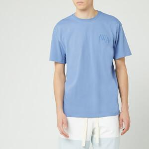 JW Anderson Men's Logo Embroidery T-Shirt - Denim Blue