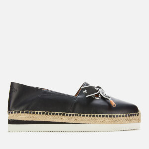 See By Chloé Women's Leather Espadrilles - Nero