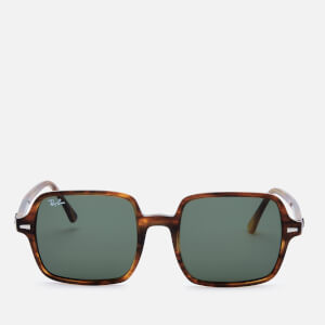 Ray-Ban Women's Square Frame Sunglasses - Stripped Havana