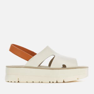 Camper Women's Oruga Flatform Sandals - Light Beige