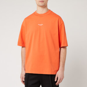 Acne Studios Men's Reverse Logo T-Shirt - Mandarin Orange