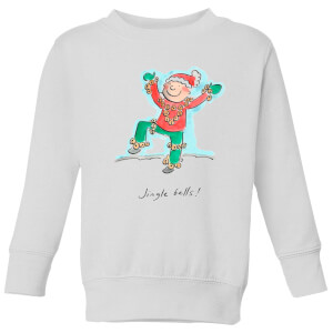 Rosie Brooks Jingle Bells Kids' Sweatshirt - White