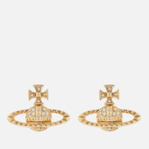 Vivienne Westwood Women's Mayfair Bas Relief Earrings - Gold Crystal