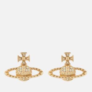Vivienne Westwood Women's Mayfair Bas Relief Earrings - Gold Crystal