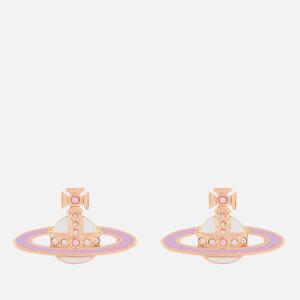 Vivienne Westwood Women's Small Neo Bas Relief Earrings - Pink Gold Quartz