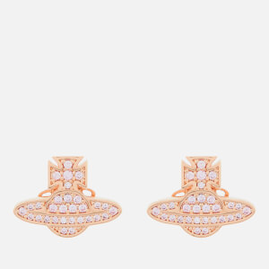 Vivienne Westwood Women's Romina Pave Orb Earrings - Pink Gold Pink