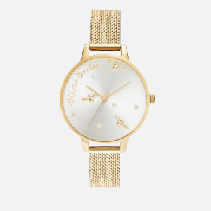 Olivia Burton Women's Pearly Queen Boucle Mesh Watch - Gold