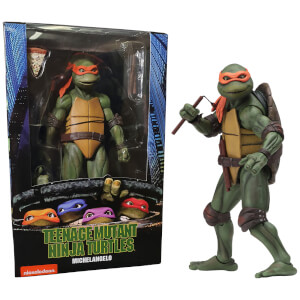 "NECA Teenage Mutant Ninja Turtles 7"" Figure 1990 Movie Michelangelo"