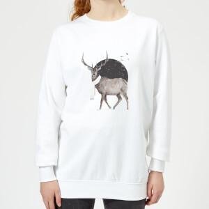 Balazs Solti Winter Is All Around Women's Sweatshirt - White