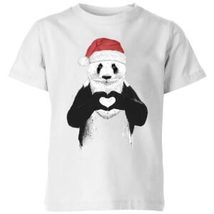 Santa Panda Kids' T-Shirt - White