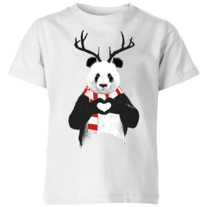 Xmas Panda Kids' T-Shirt - White