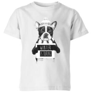 Winter Is Boring Kids' T-Shirt - White