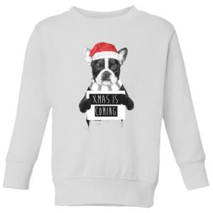 Xmas Is Coming Kids' Sweatshirt - White