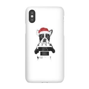 Balazs Solti Let It Snow Frenchie Christmas Phone Case for iPhone and Android