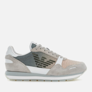 Emporio Armani Women's Running Style Trainers - Plaster/Nude/White