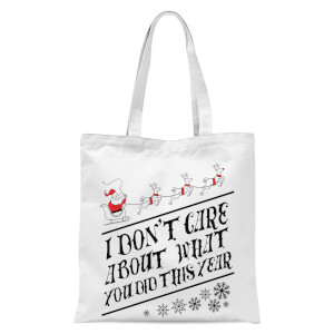 Tobias Fonseca I Don't Care About What You Did This Year Tote Bag - White