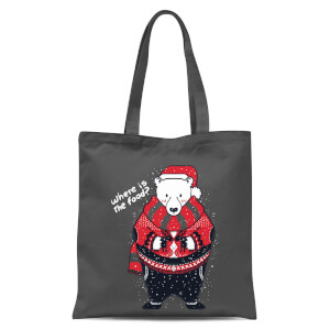 Tobias Fonseca Where Is The Food Tote Bag - Grey