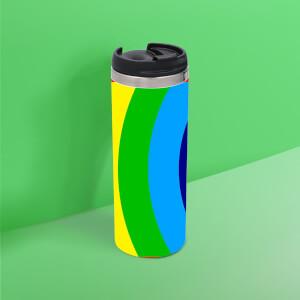 Classic Rainbow Thermo Insulated Travel Mug