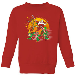 Tobias Fonseca Xmas War Kids' Sweatshirt - Red