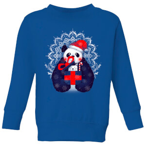 Tobias Fonseca Xmas Panda Kids' Sweatshirt - Royal Blue