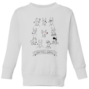 Tobias Fonseca Santa's Gang Kids' Sweatshirt - White