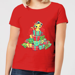 Tobias Fonseca Tons Of Xmas Gifts Women's T-Shirt - Red