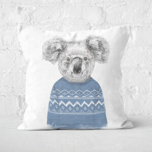 Winter Koala Square Cushion