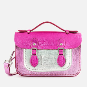 The Cambridge Satchel Company Women's The Mini Satchel - Dark Fuschia/Light Fuschia/Silver