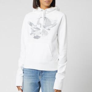 Helmut Lang Women's Slim Hoody Eagle - Chalk White