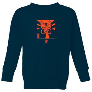 Samurai Jack Aku Kanji Kids' Sweatshirt - Navy