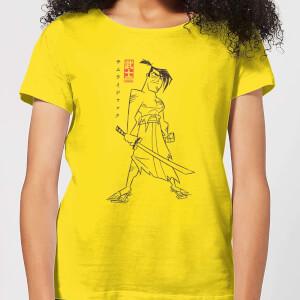 Samurai Jack Vintage Kanji Women's T-Shirt - Yellow