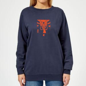 Samurai Jack Aku Kanji Women's Sweatshirt - Navy