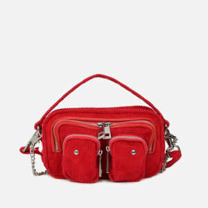 Núnoo Women's Helena Corduroy Cross Body Bag - Red