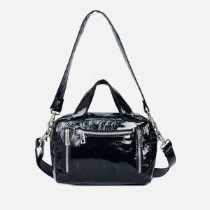 Núnoo Women's Donna Gloss Leather Shoulder Bag - Black